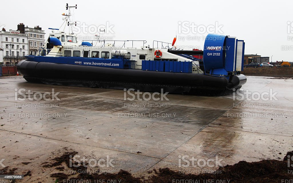 Hovercraft at Ryde,Isle of Wight stock photo