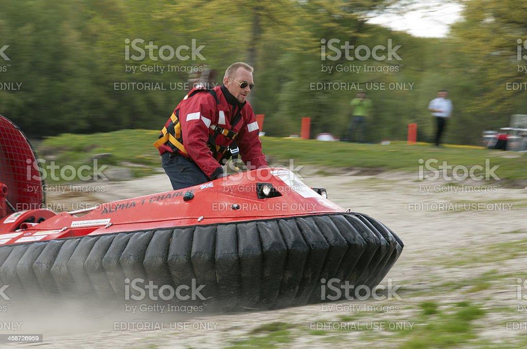 Hovercraft boat stock photo