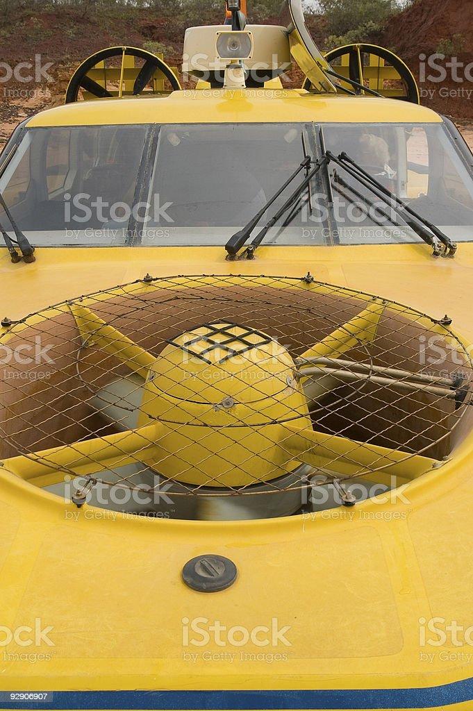 Hovercraft close up stock photo