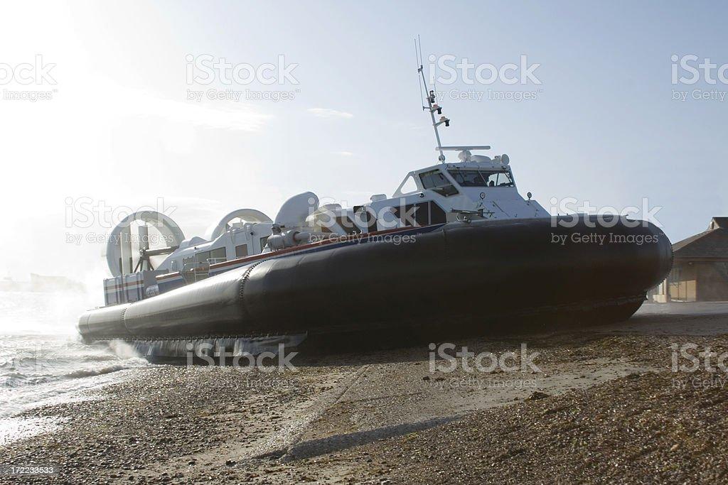 Hovercraft on the Solent, Hampshire stock photo