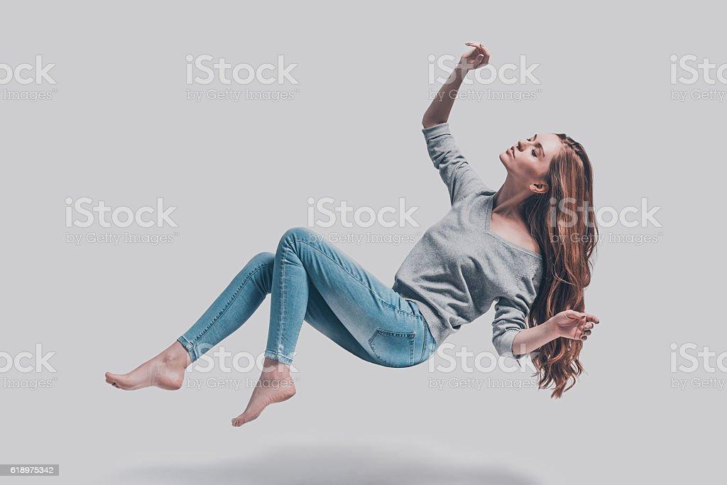Hovering beauty. stock photo