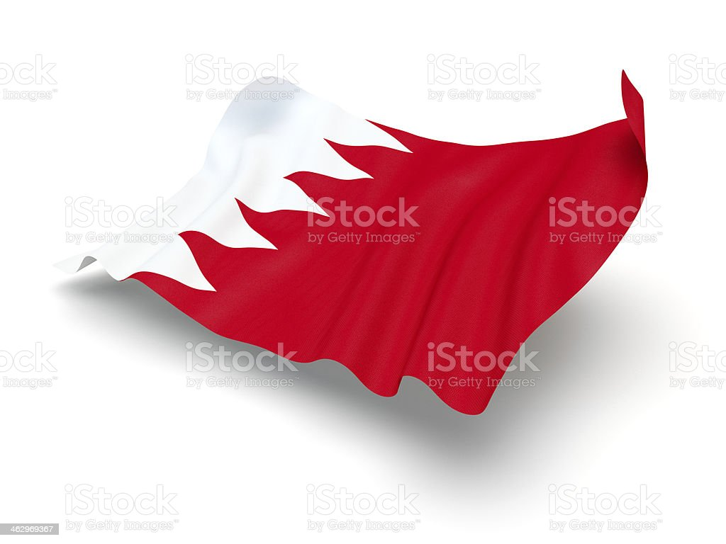 Hovering Flag of Bahrain (Clipping Path) stock photo