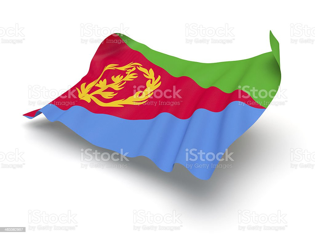 Hovering Flag of Eritrea (Clipping Path) stock photo