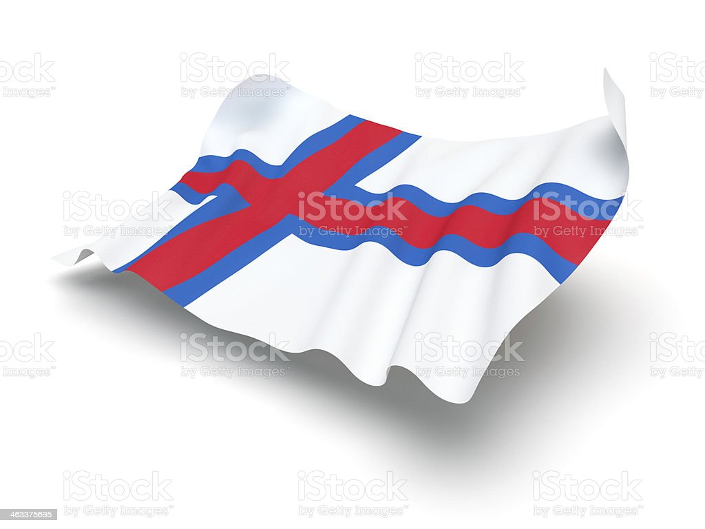 Hovering Flag of Faroe Islands (Clipping Path) stock photo