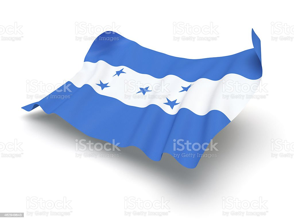Hovering Flag of Honduras (Clipping Path) stock photo