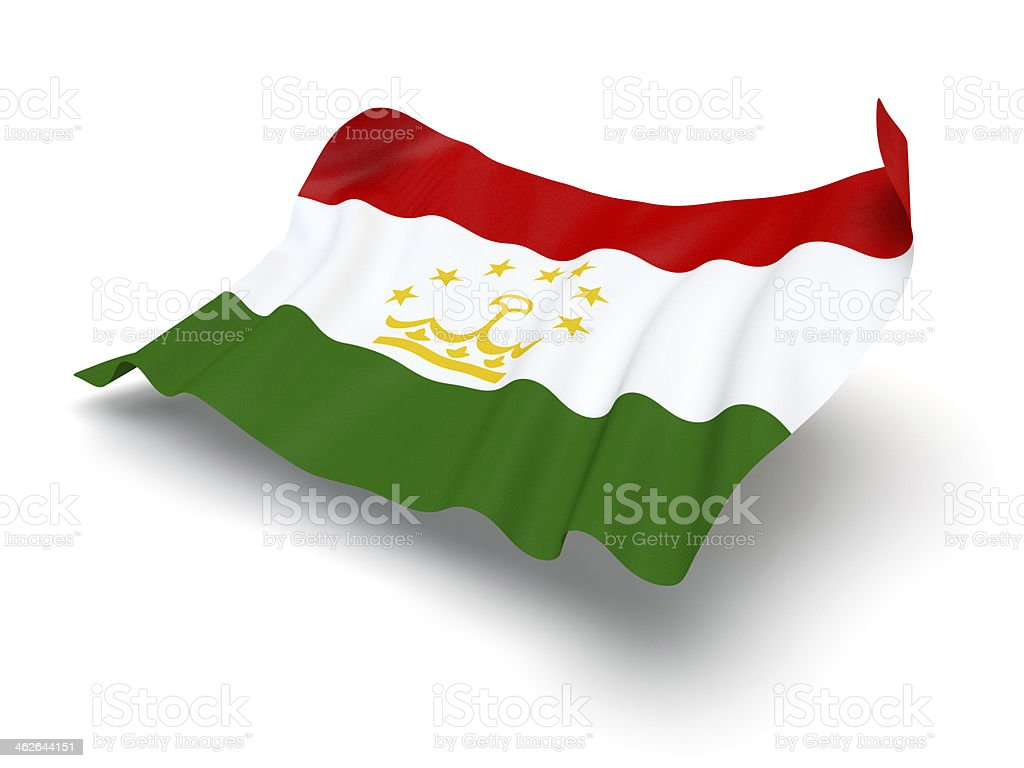 Hovering Flag of Tajikistan (Clipping Path) stock photo