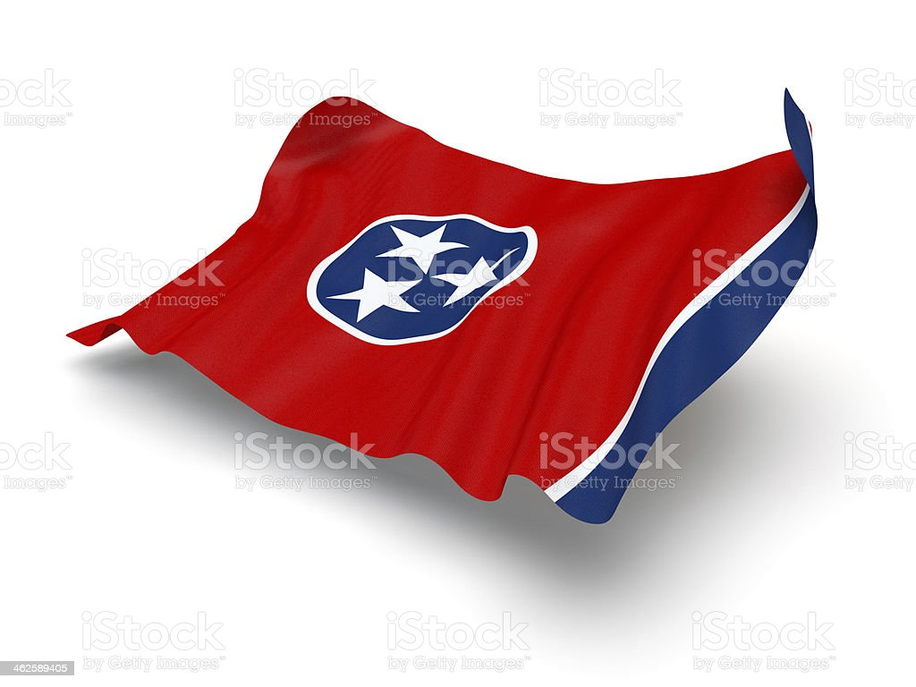 Hovering Flag of Tennessee (Clipping Path) stock photo
