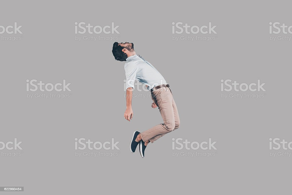 Hovering in air. stock photo
