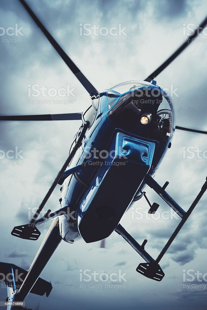 Hovering in the Storm stock photo