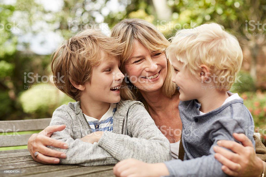 How are my little grandsons? stock photo