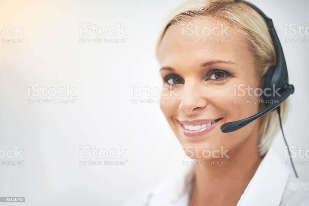 How can I be of assistance? stock photo