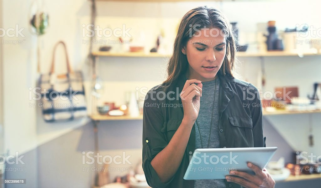 How can I get more traffic to my boutique's website? stock photo
