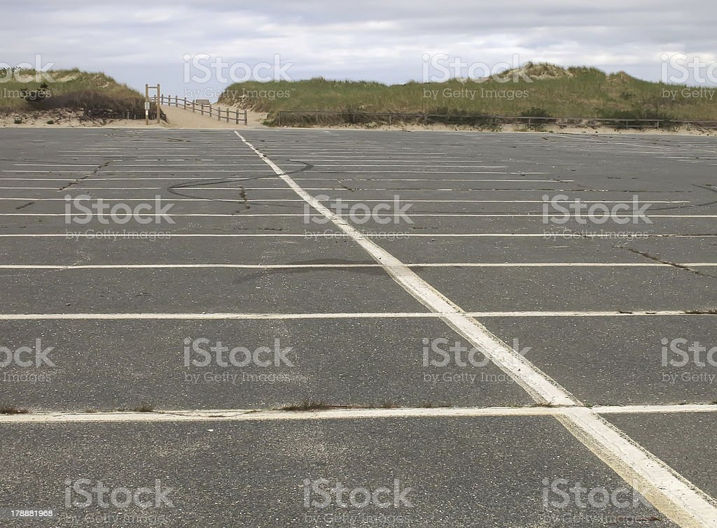 How can this be the beach if it's deserted? stock photo