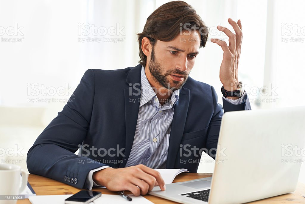 How could that report not be done yet? stock photo