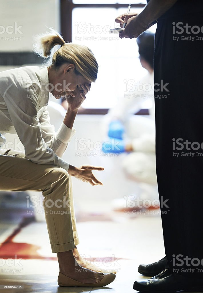 How could this have happened? stock photo