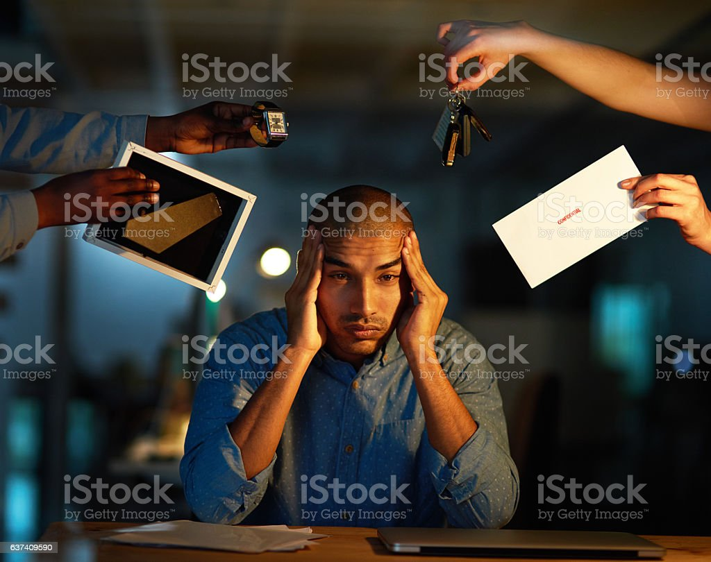How do I keep up with all these demands? stock photo