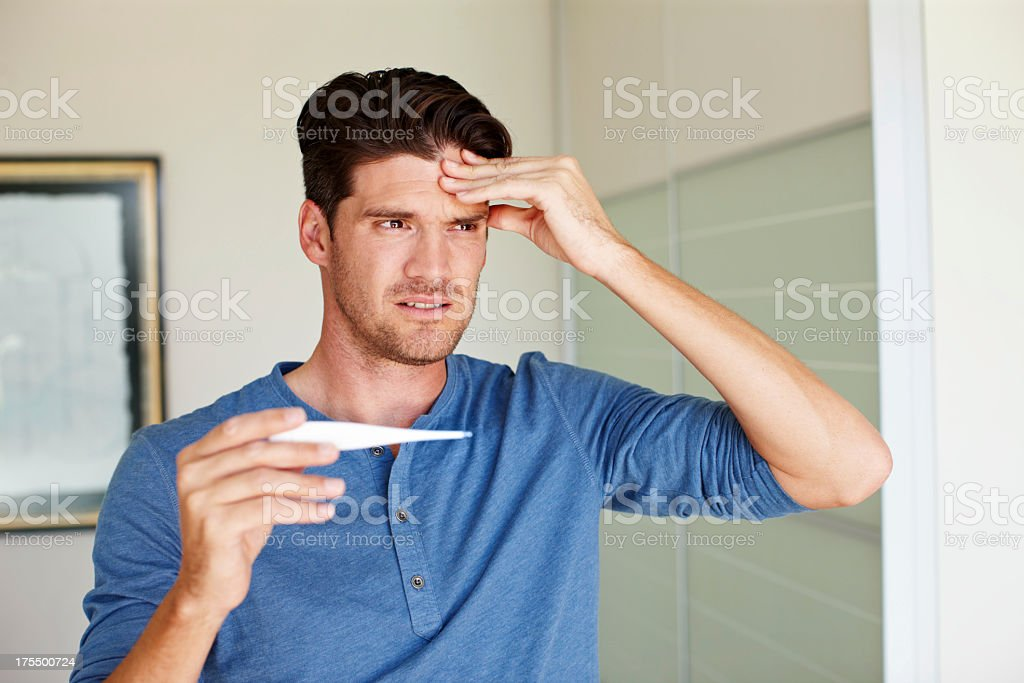 How do you know when your temperature is too high? royalty-free stock photo