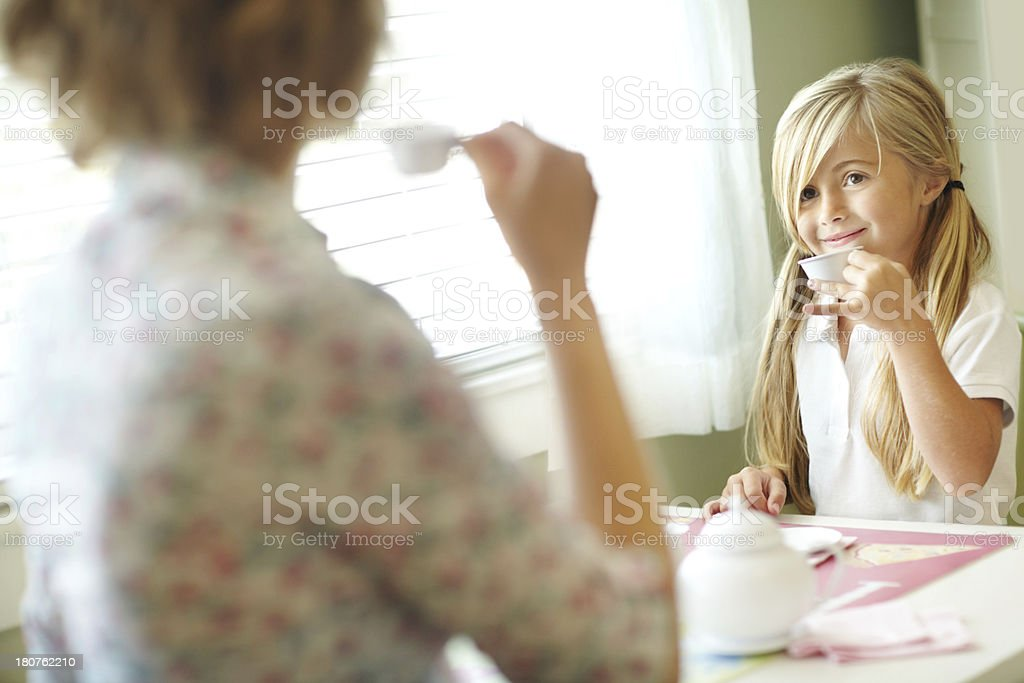 How do you like your tea, mom? royalty-free stock photo