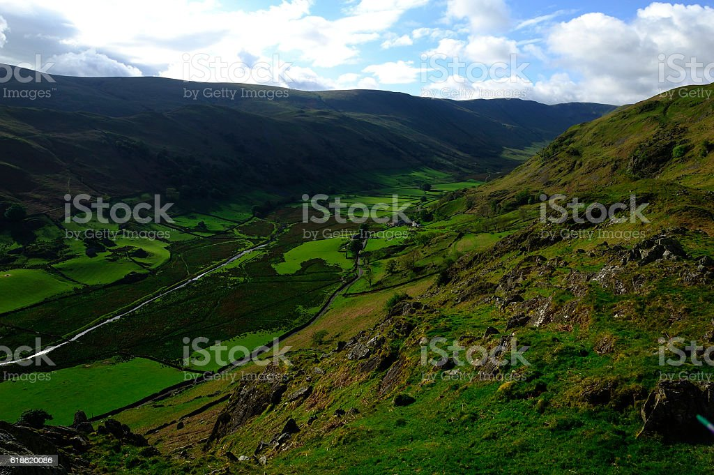 How Green is my Valley! stock photo