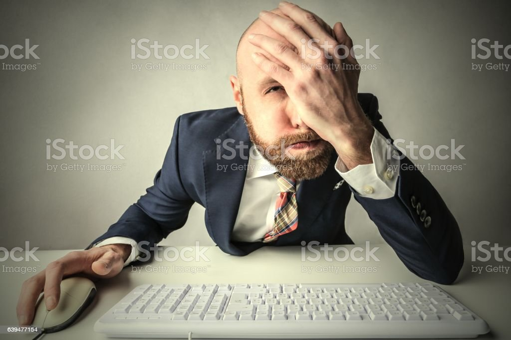 How I could be so stupid?! stock photo