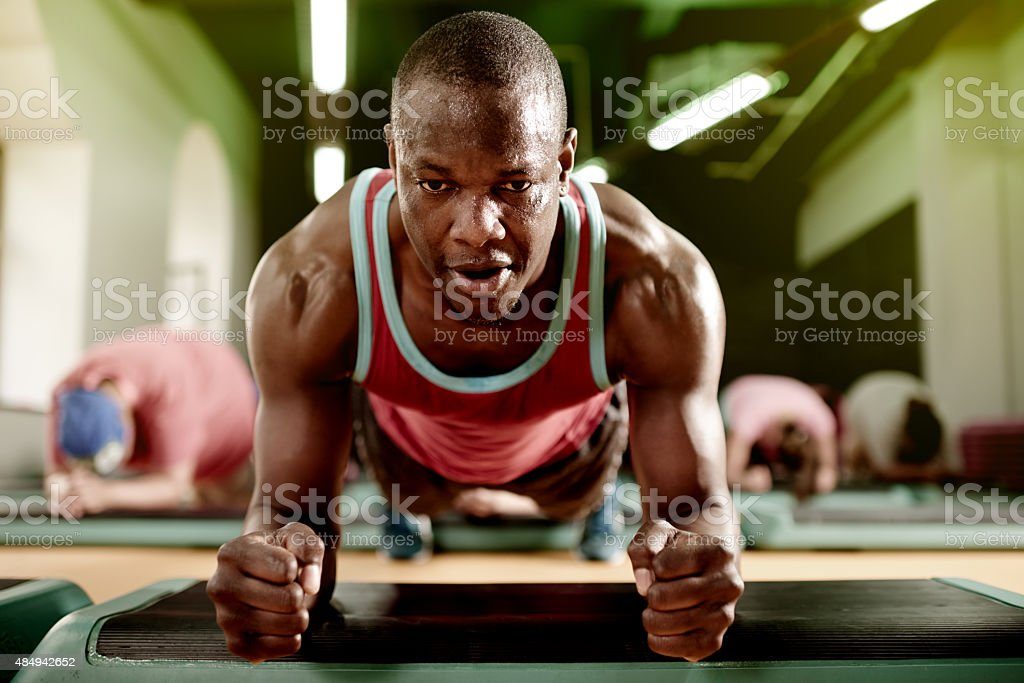 How long can you hold a plank? stock photo