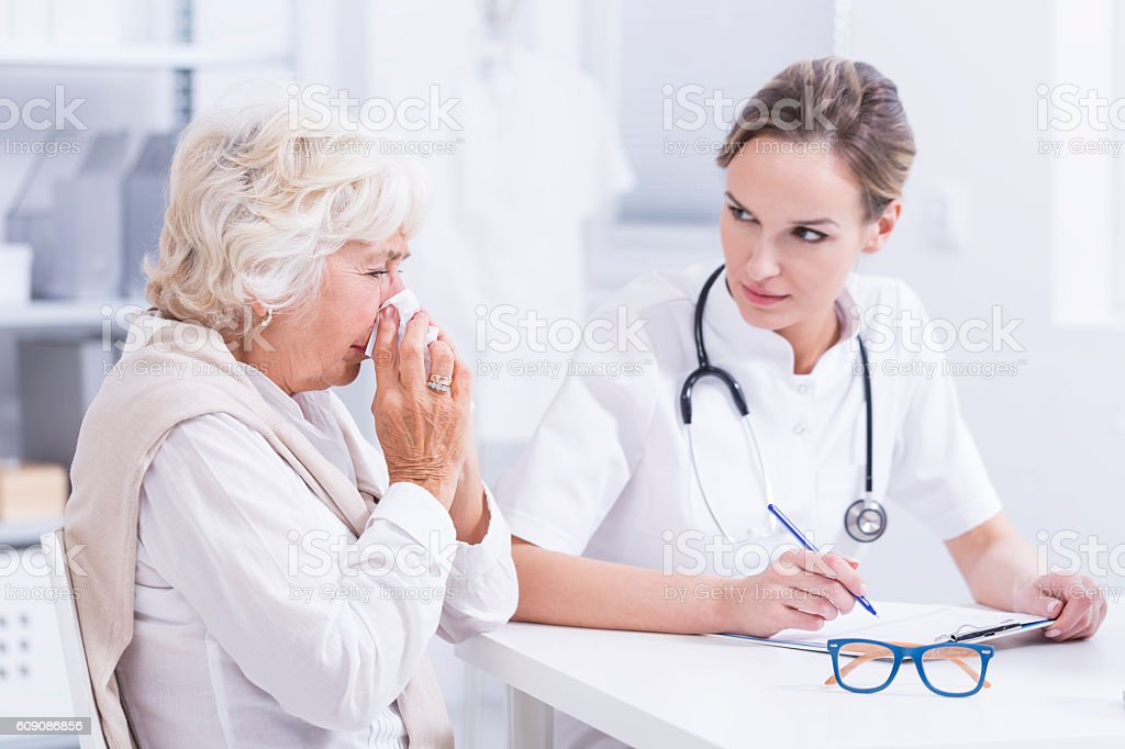 How long do you suffer from an allergy? stock photo