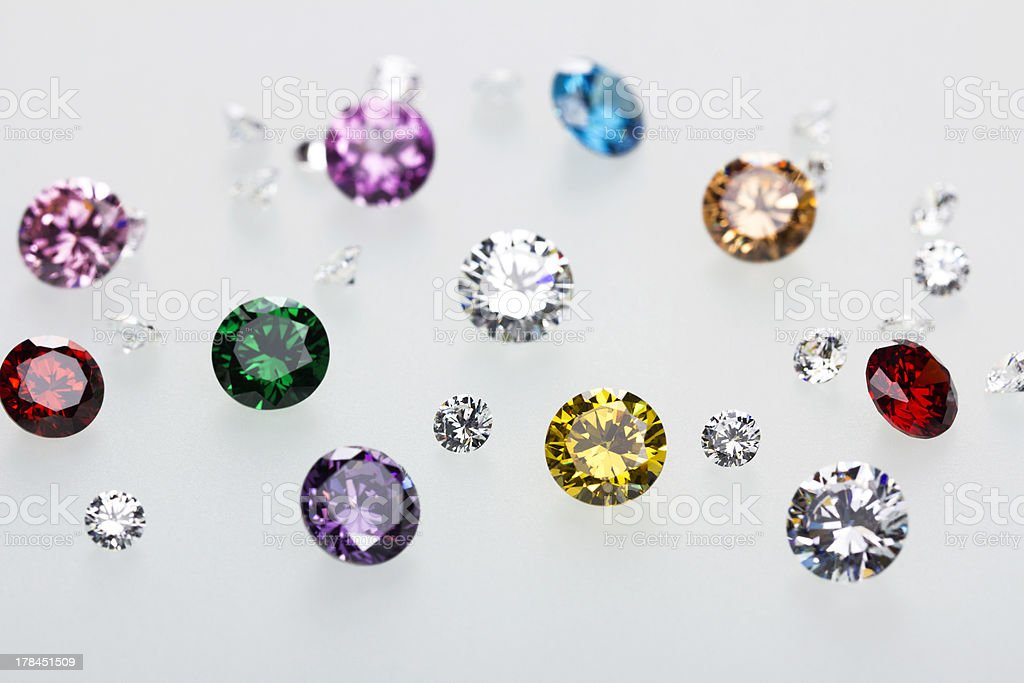 How many colorful gems there are royalty-free stock photo
