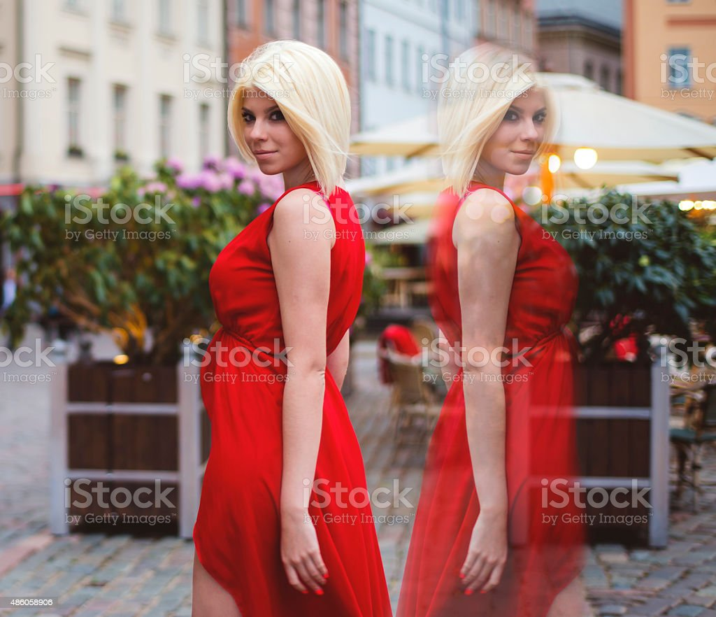 How many people live in you, a split personality stock photo