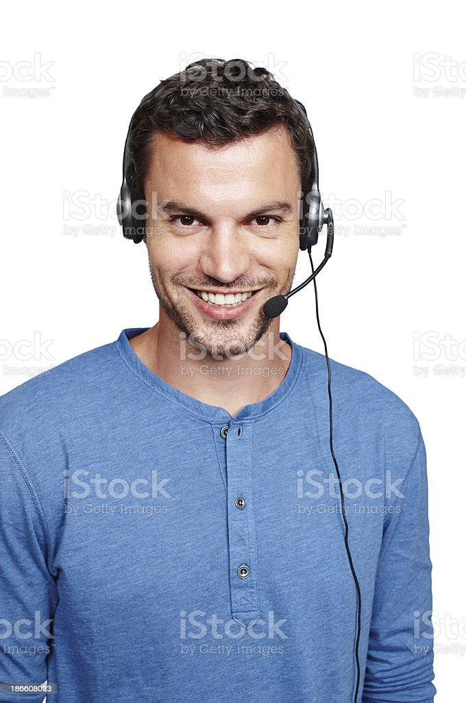 How may I help you? royalty-free stock photo