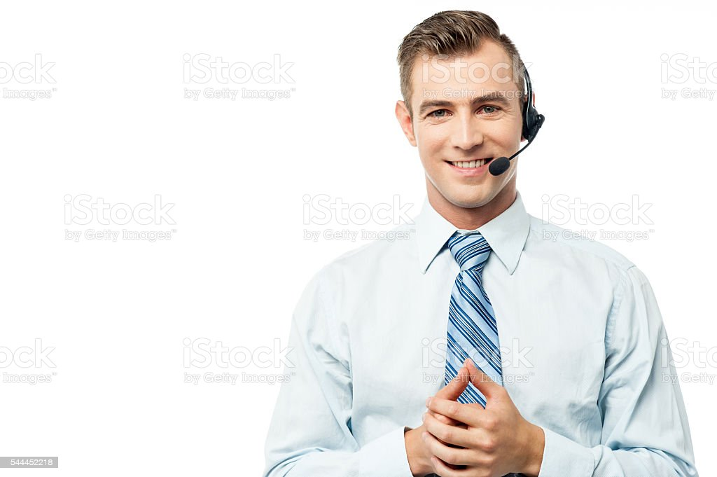 How may I help you today? stock photo