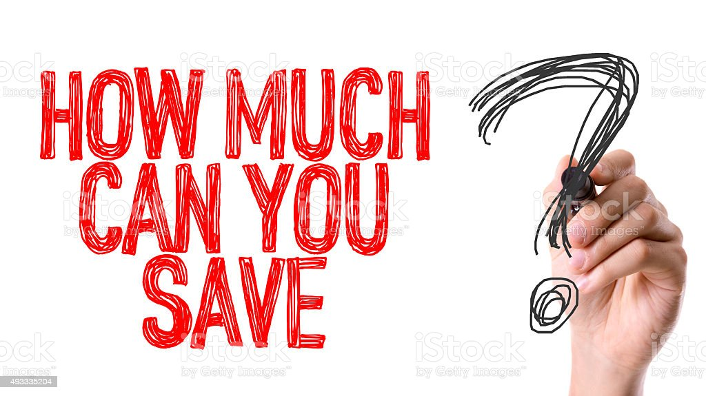 How Much Can You Save? stock photo