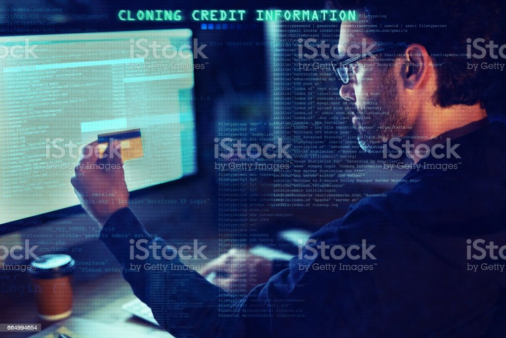 How safe is your financial information? stock photo