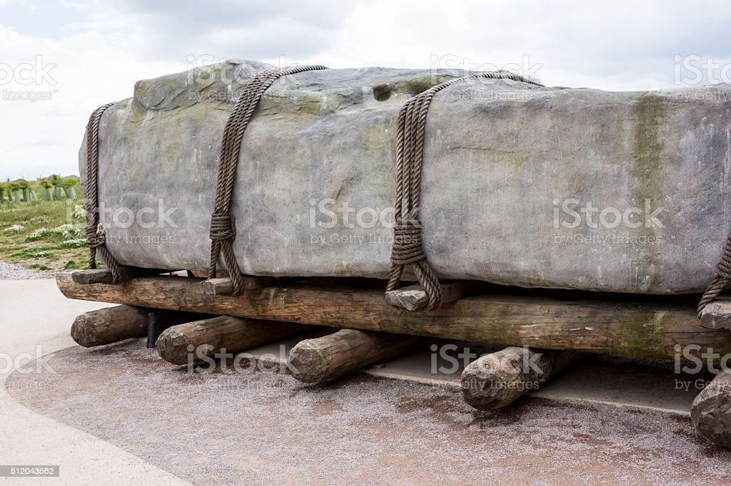 How Stonehenge was made stock photo