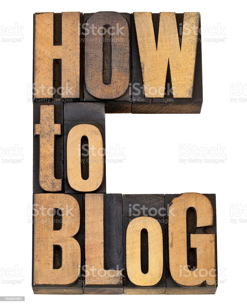 how to blog stock photo