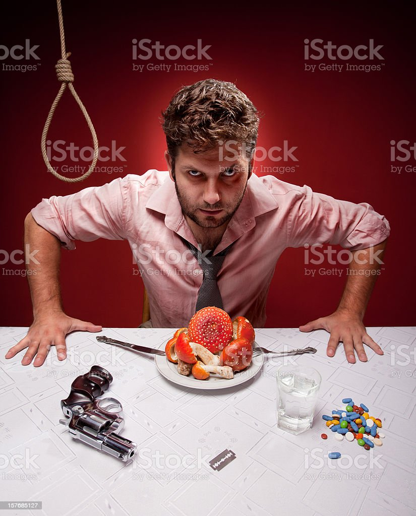 How to... commit suicide royalty-free stock photo
