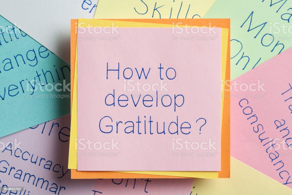 How to develop Gratitude stock photo