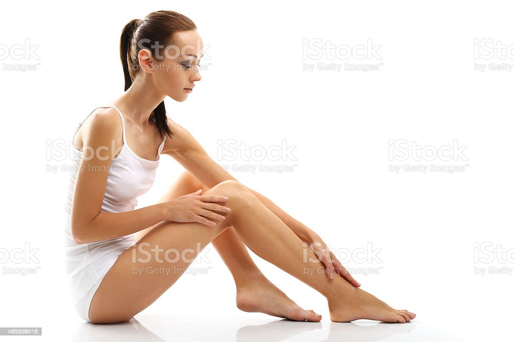How to Get Smooth Legs stock photo