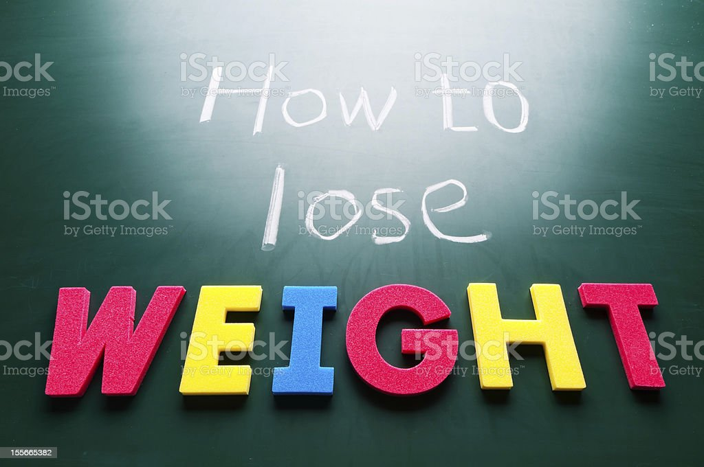 How to lose weight royalty-free stock photo