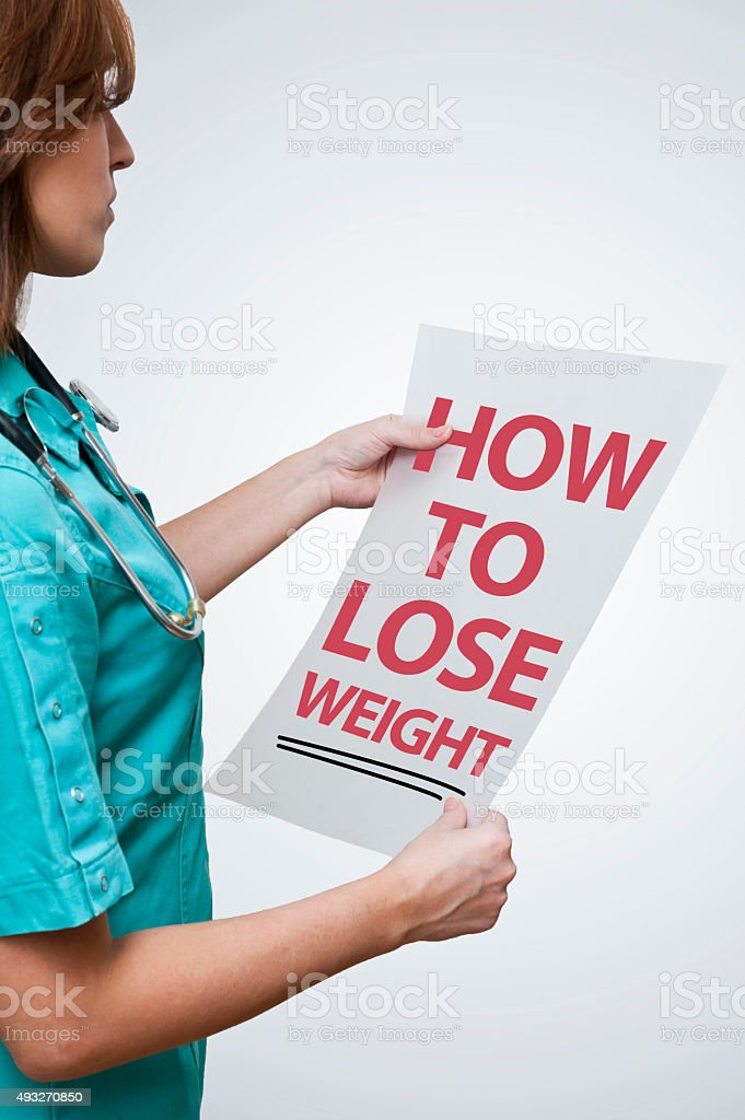 How to lose weight (Click for more) stock photo