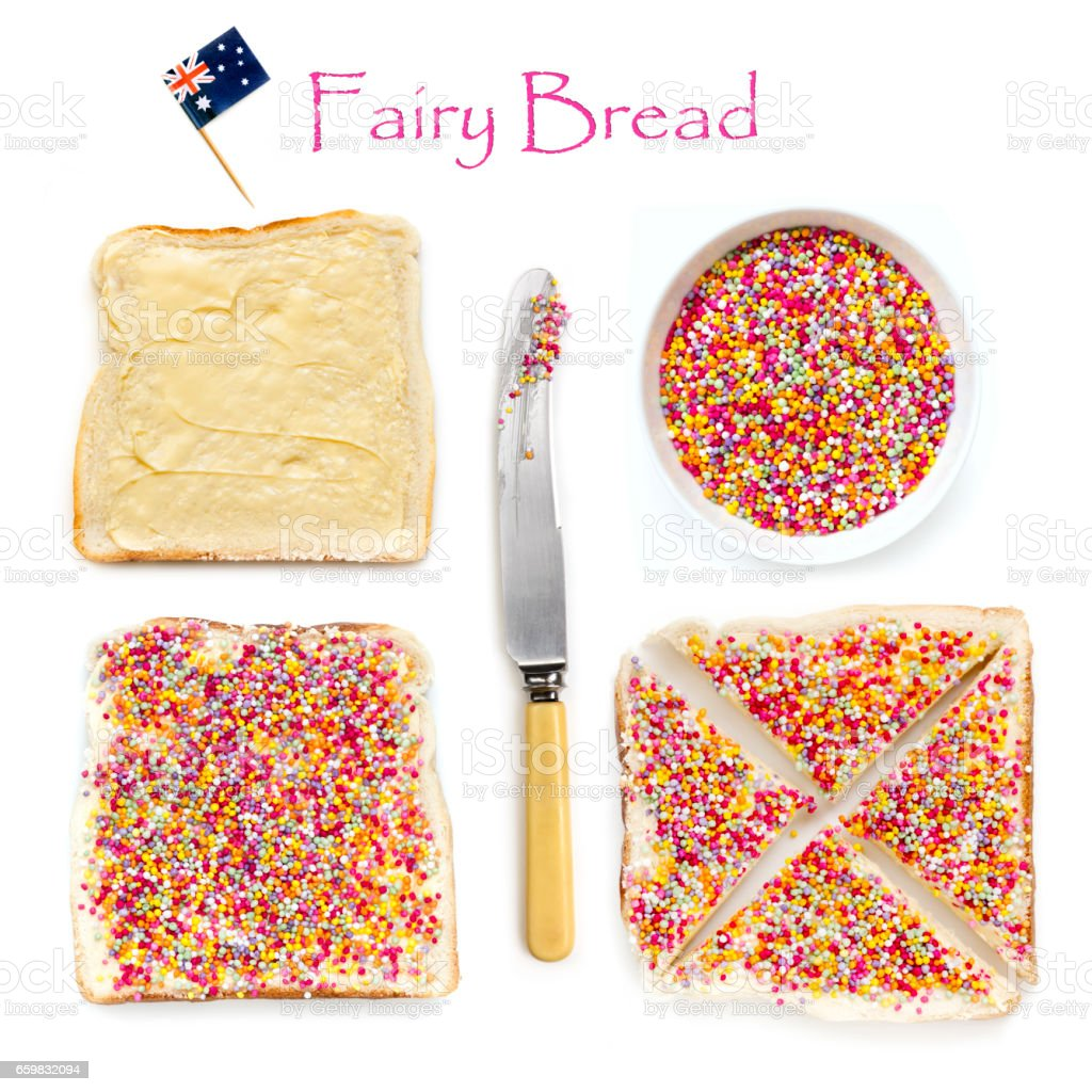 How to Make Fairy Bread stock photo