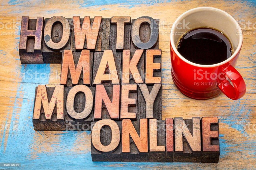 how to make money online stock photo