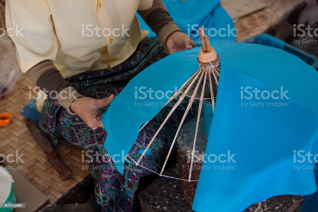 How to make the process umbrella / Arts and crafts stock photo