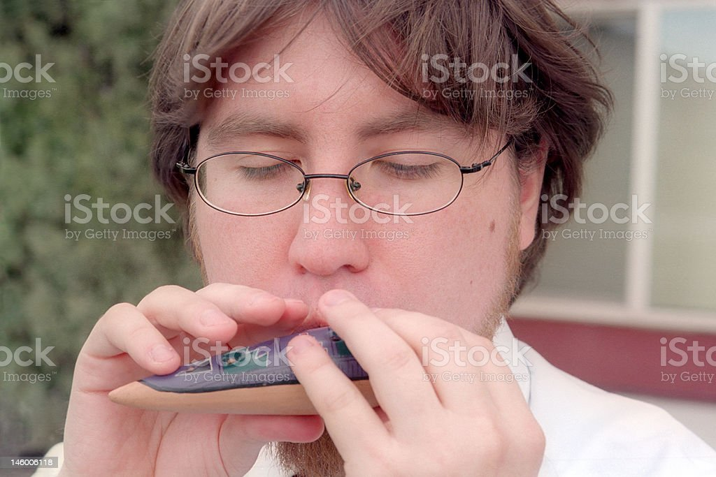 How to play ocarina stock photo
