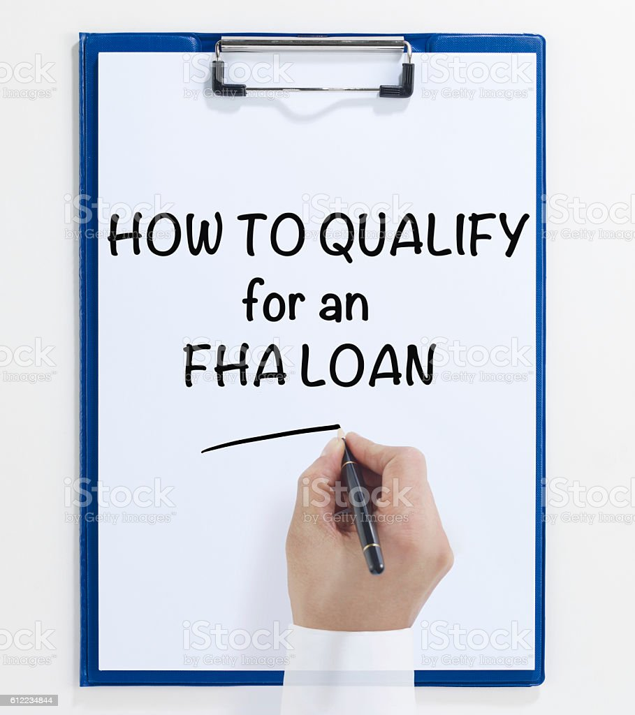 How to qualify for FHA loan stock photo