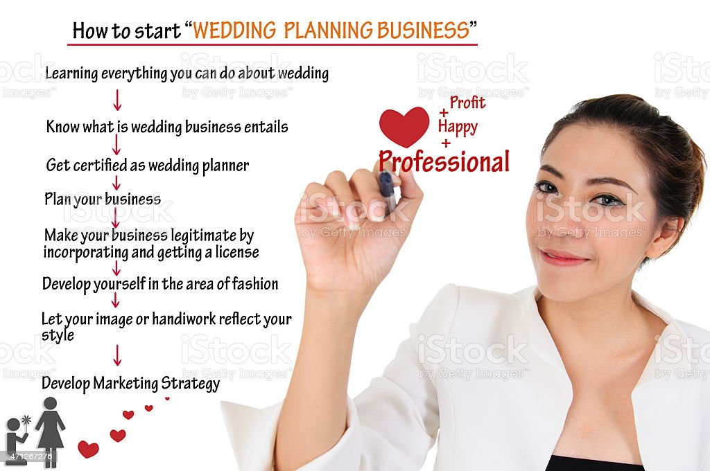 How to start wedding planning business for love concept stock photo