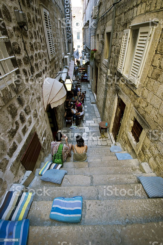 How to take a break in Dubrovnik royalty-free stock photo