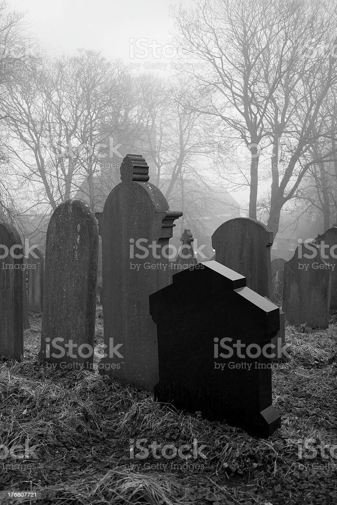 Howarth Graveyard stock photo