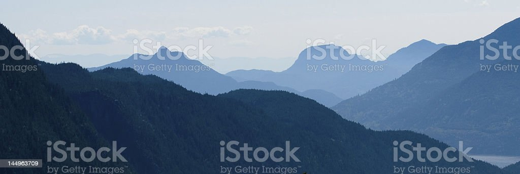 Howe Sound from the Stawamus Chief, Squamish, BC stock photo