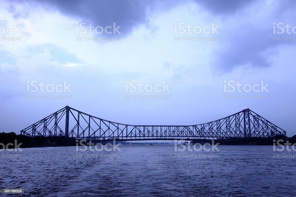 Howrah bridge stock photo