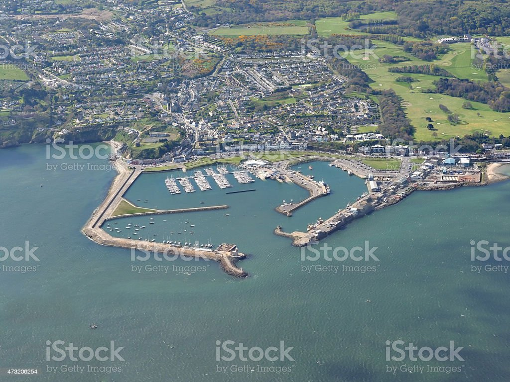Howt Harbour in Dublin Ireland stock photo